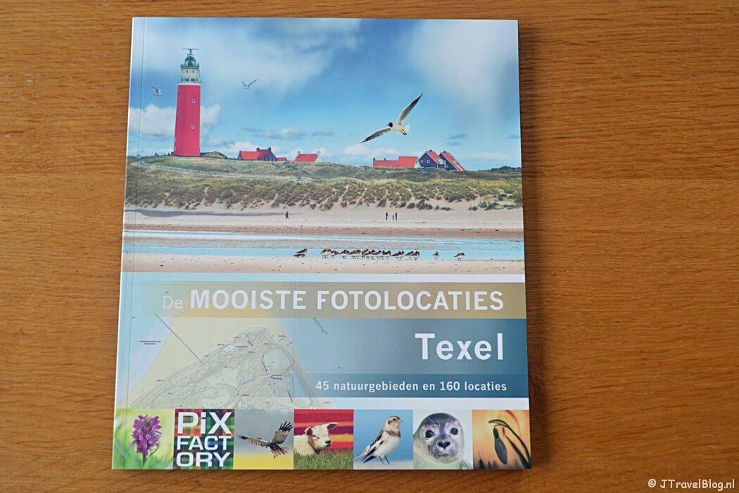 De voorkant van het boek 'De mooiste fotolocaties van Texel'