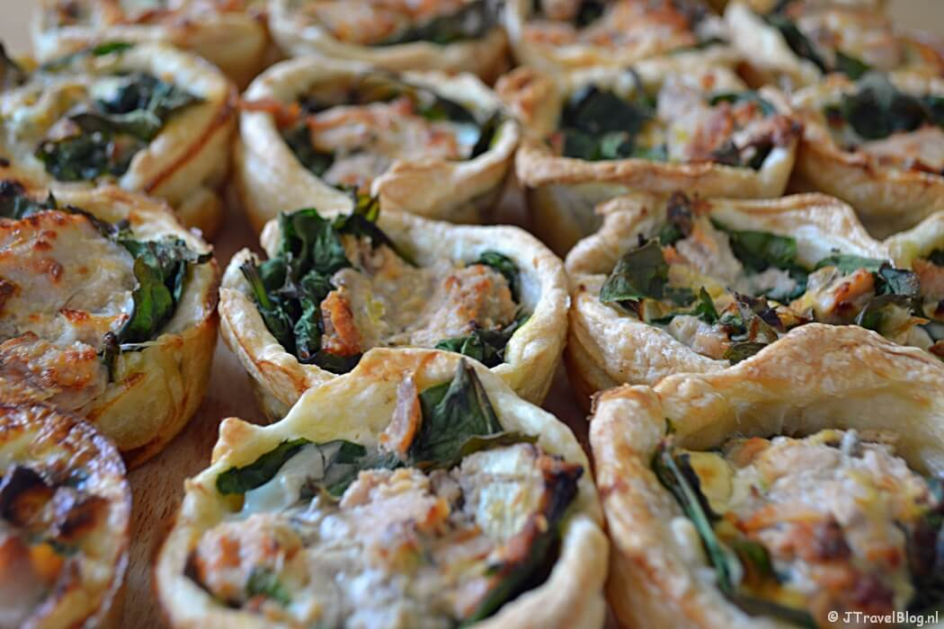 Recept: mini quiches met zalm en spinazie