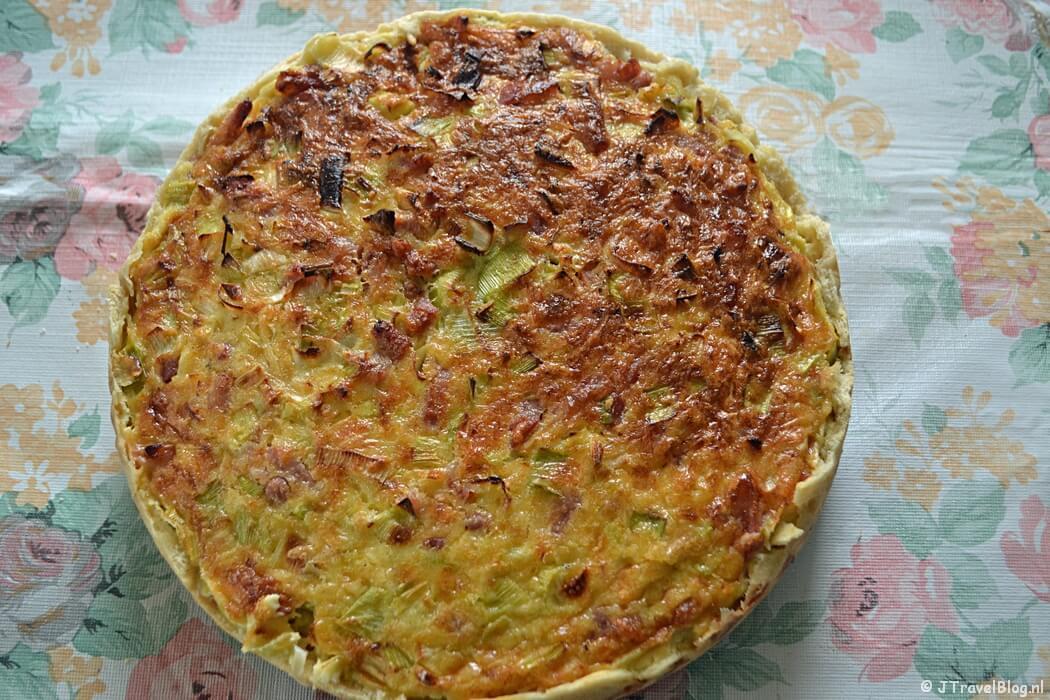 Recept: Quiche Lorraine met spek, prei en kaas