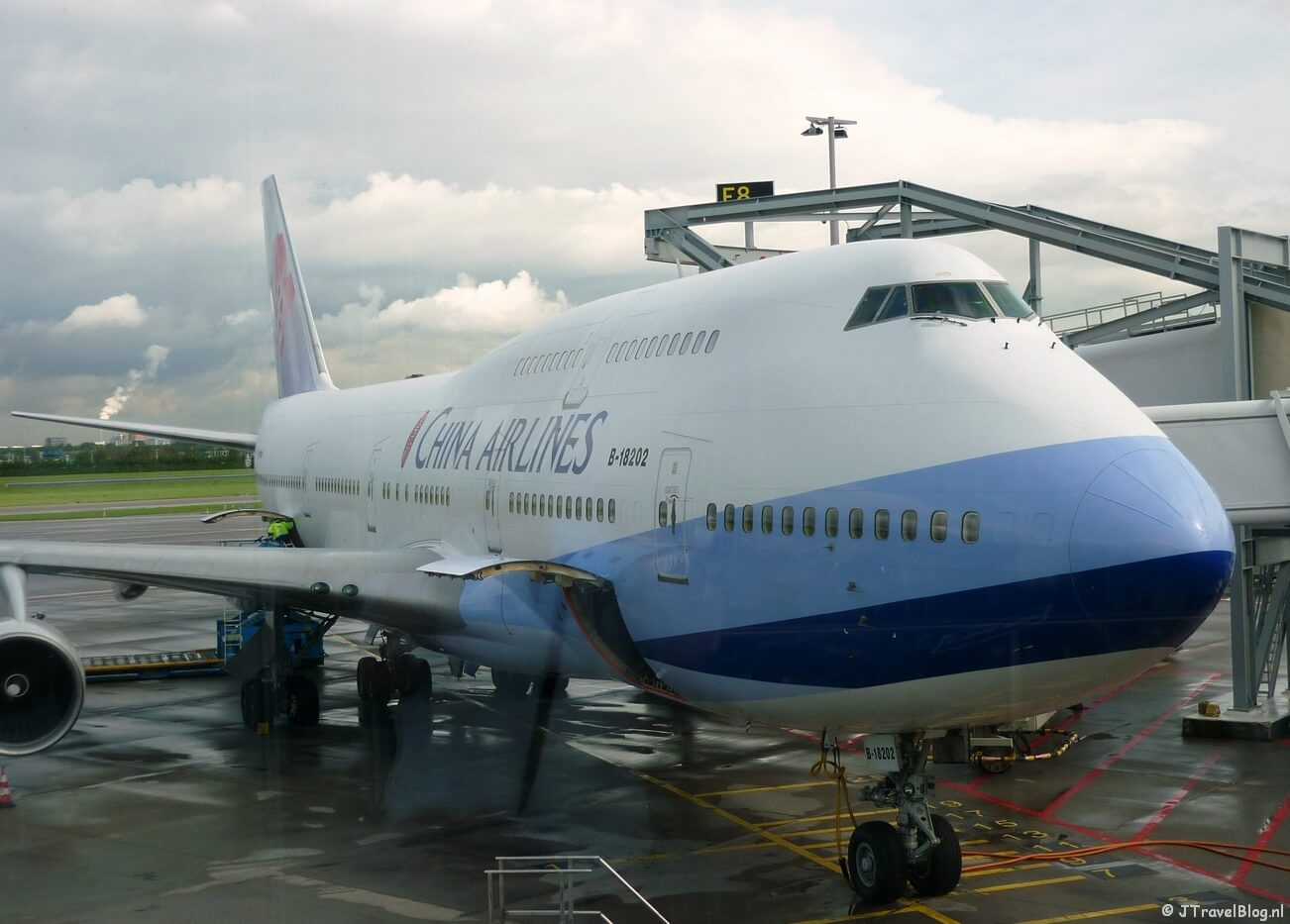 Vliegtuig van China Airlines naar Bangkok