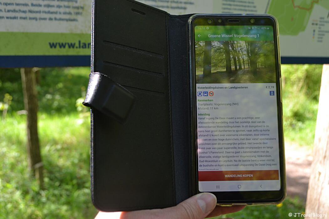 Wandel-app-WandelZapp om mijn telefoon tijdens de Groene Wissel Vogelenzang