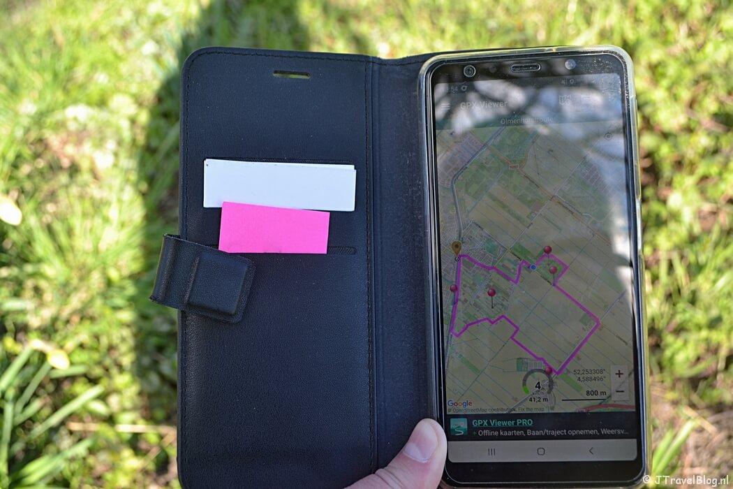 Wandelen met behulp van GPX-bestanden en GPS op je telefoon