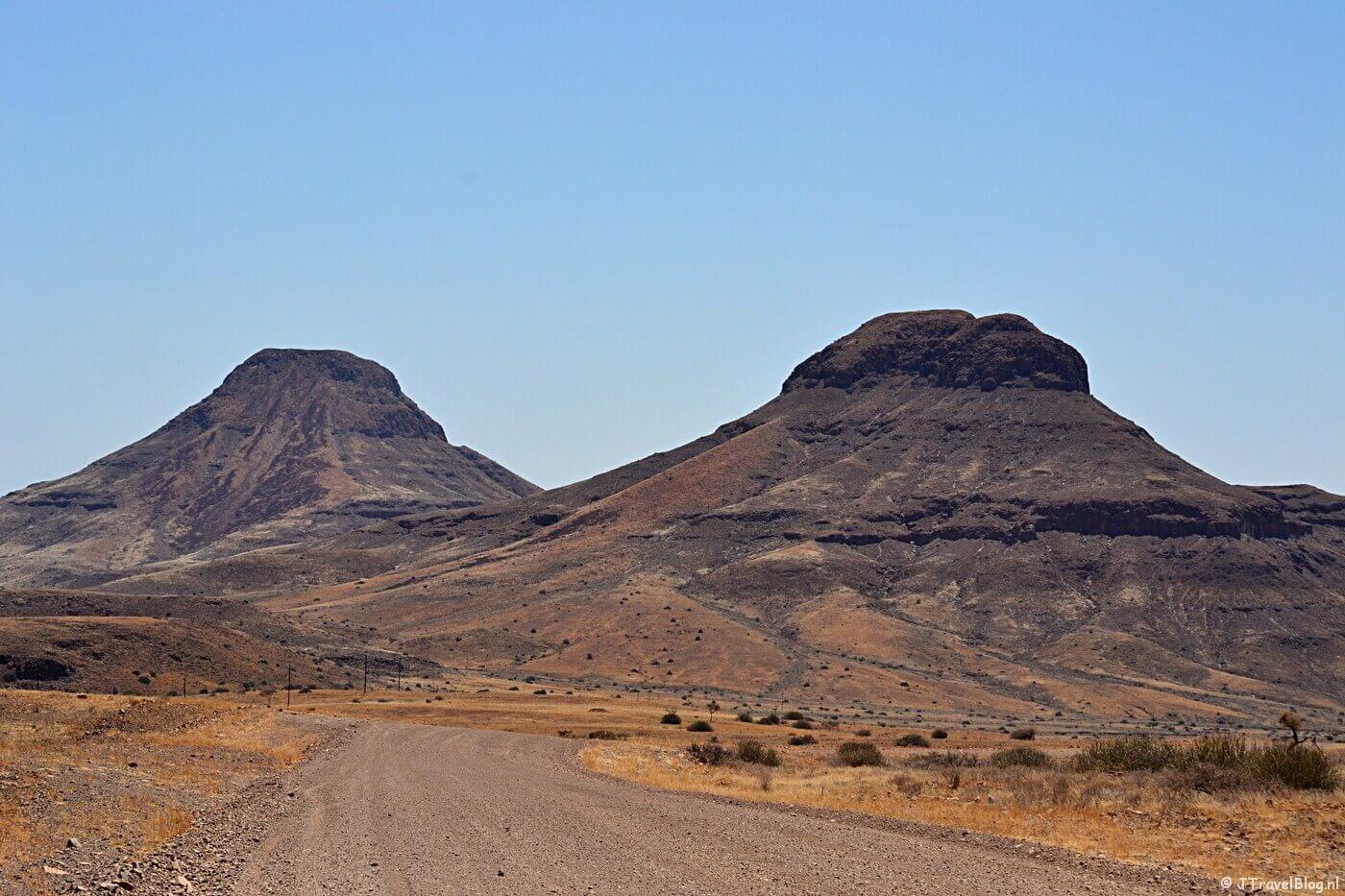 De wegen in Namibië