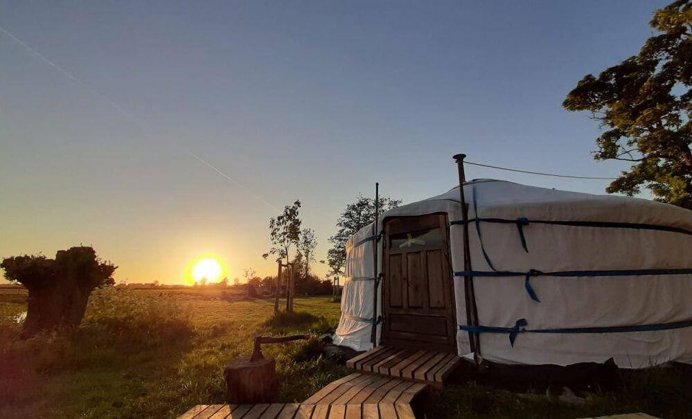 Yurt in Warmond/Zuid-Holland via Natuurhuisje.nl